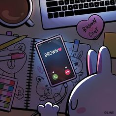 My hobby is you💘 Cute Love Pictures, Cute Love Gif, Cute Couple Cartoon, Cute Love Cartoons, Cony Brown, Brown Bear, Cute Wallpaper Backgrounds, Cute Wallpapers, Line Cony