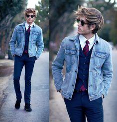 "Adam Gallagher | ""Refining le jean"" #Coveted #DenimJacket #lookbooknu"