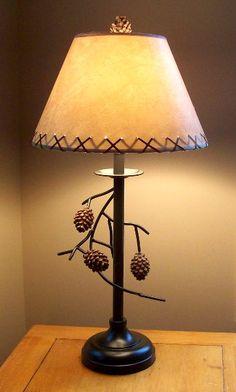 pine cone lamp