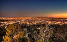 Los Angeles Night grid