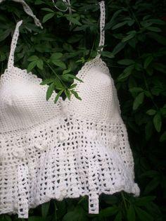 tejido en algodon blanco natural 100% algodon en crochet   LOCALIDAD URUGUAY