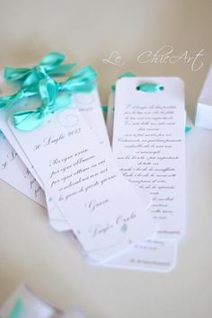 MY WEDDING: TABLEAU, GUESTBOOK, VENTAGLI, SCATOLE PORTARISO E SEGNAPOSTO TIFFANY BLUE FIRMATI LE CHIC ART By www.SomethingTiffanyBlue.com