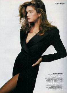 "— 80s-90s-supermodels:   ""Basic Blue"", VOGUE US,..."