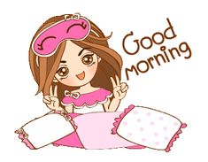 Cute Good Morning Gif, Good Night Gif, Good Night Image, Good Morning Greetings, Good Morning Images, Cute Cartoon Pictures, Cute Cartoon Girl, Cute Love Cartoons, Cute Images