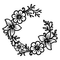 Silhouette Design Store - View Design #198589: lily wreath