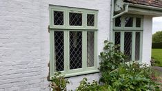 Made by Merrin Joinery in Nottinghamshire UK. Wooden Windows, Listed Building, Casement Windows, Leaded Glass, Joinery, Bespoke, Outdoor Structures, Design, Wooden Window Boxes