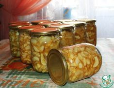 Рецепт: Яблоки Для мужа Home Canning, Best Fruits, Fall Recipes, Preserves, Pickles, Cucumber, Salsa, Recipies, Food And Drink