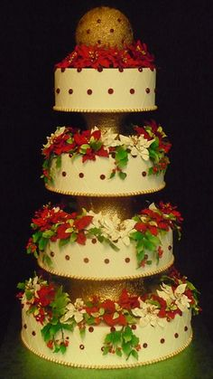 Holidays at Crosley - Wedding cake- Powel Crosley Estate- The Cake Zone- Florida   by The Cake Zone - Rated top 3 Florida's Best Bakery