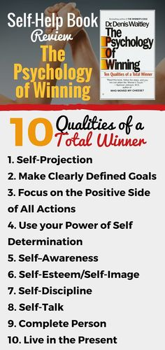 Psychology of Winning- 10 Qualities of the Winning Mindset -- What it takes to win in life according to Dr. Denis Waitley.---- Read full book review on page for more details on this book and the 10 steps Dr. Waitley advocates for your personal development into a winning mindset