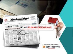 Pasang iklan baris Rumah Disewakan di koran Kedaulatan Rakyat Jogja, Kirim Materi Iklan ke 085643384005 (SMS/WA)