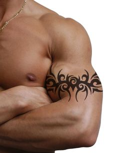 Tribal Arm Band Tattoo Design Idea For Men