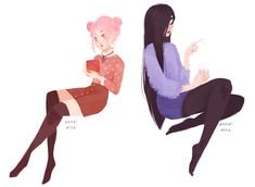 Just Peachy — punziella: hot tea, iced tea Art And Illustration, Character Illustration, Art Illustrations, Pretty Art, Cute Art, Punziella, Wow Art, Character Drawing, Animation Character