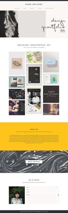 Gorgeous x 3 ! Dana Sellers' new portfolio site has a whole lot of personality! She's done a great job customizing Station Seven's Industry theme. Web Design Trends, Layout Design, Design De Configuration, Site Web Design, Font Design, Web Design Tips, Design Poster, Web Layout, Typography Design