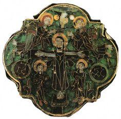 Cloisonné from Khakhuli, VIII century, Georgia Sacred Art, Christian Art, Crucifix, City Photo, Georgia, Medieval, Objects, Enamel, Unique