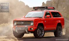 2020 Ford Bronco Red with Roof Rack