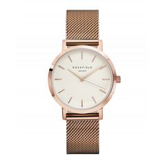 Tribeca Or Rose montre pour femme - bracelet à mailles or rose  ROSEFIELD Watches