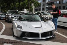 Brand new Ferrari LaFerrari spotted in silver color