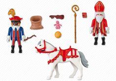 Woordjes en korte zinnetjes bij Sint Playmobil doosje 4893 en 5040. - MontessoriNet