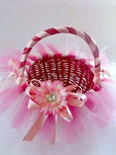 Tutu basket tutorial. I did this for Riley but I never could find the tutorial. But here it is!