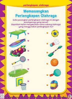 Memasangkan Perlengkapan Olahraga   Ebook Anak