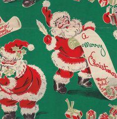 Vintage Dennison Christmas Santas circa 1950 | Flickr - Photo Sharing!