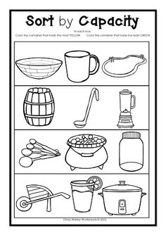 math worksheet : 1000 images about maths  capacity on pinterest  kindergarten  : Kindergarten Capacity Worksheets