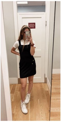 Teen Fashion Outfits, Retro Outfits, Girly Outfits, Cute Casual Outfits, Simple Outfits, Look Fashion, T Shirt Under Dress, Layering Outfits, Summer Dress Outfits