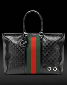 500 by gucci men's tote with signature web detail | Men's bags