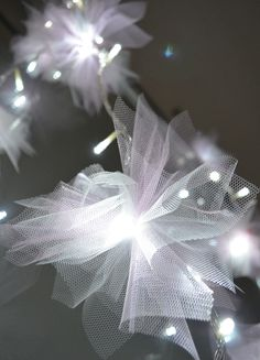 Make your own Fairy Lights for a wedding reception, holiday decoration.