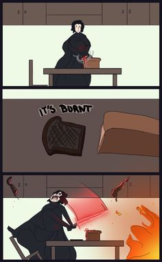 A day in the life of Kylo Ren.