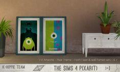 7 K Artworks Pixar Theme sets 1&2 at K-hippie via Sims 4 Updates