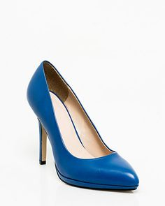 Le Château: Leather Platform Pointy Toe Pump