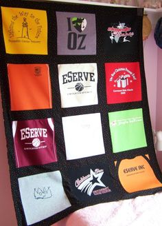 T-Shirt Memory Quilt...made one from tees collected at cross country meets. Graduation present to my daughter on her way to college. Softest quilt, filled with memories, she kept it for years!