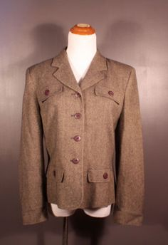 Made-in-USA Pendleton 100% Wool Jacket, women's size L, available at our eBay store! $35