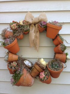Welcome To Our Crafty Mom! Have You Ever Heard Of A Rain Chain? I Decided  To Make My Own Using Clay Pots.