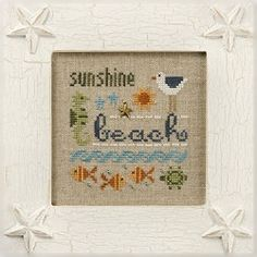 cross stitch kit : At The Beach Lizzie Kate by thecottageneedle
