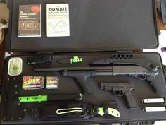 got gear. Zombie Gear, Zombie Apocalypse, In Case Of Emergency, First Aid, Survival Tips, Zombies, Prepping, Horror, Weapons Guns