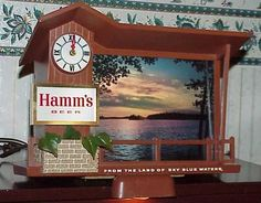 1960s Hamm's Beer Dawn to Dusk Motion Sign Minty Stored for Years The Best | eBay