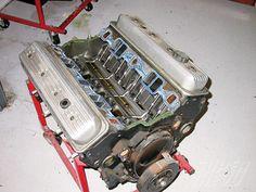 Chevy Vs Ford, Chevy Trucks, Chevrolet, Chevy 350 Engine, Truck Engine, Super Chevy Magazine, Chevy Motors, Wrecking Yards, 1966 Chevelle