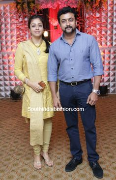 Surya and Jyothika at Rajkumar & Sripriyas Wedding Anniversary photo Bollywood Photos, Bollywood Actors, Indian Actresses, Actors & Actresses, Surya Actor, Marriage Images, Cute Celebrity Couples, Indian Designer Suits, Actors Images