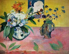 Paul Gauguin Flowers and a Japanese Print painting - Flowers and a Japanese…