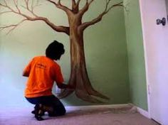 Image result for how to paint a large tree mural
