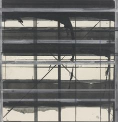 Brice Marden (American, b. 1938), Card Drawing #5, 1983. Ink and gouache on card, 6 x 6 in.