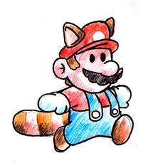 Corre Mario,corre http://frikinianos.es/run-mario-run/ #Mario #SuperMario #MarioMapache #gif #NES #Nintendo