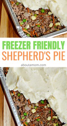 Looking for a classic Irish meal for St Patrick's Day? This freezer friendly Shepherd's Pie recipe is delicious and easy to make. Make one for now and freeze the other for later. It's a terrific make ahead dinner. Easy Tart Recipes, Irish Recipes, Pie Recipes, Cooking Recipes, Irish Meals, Dinner Recipes, Make Ahead Freezer Meals, Dump Meals, Easy Meals