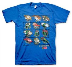 Sushi Funny Novelty T-shirt On Royal Blue S, M, L, XL. $14.95, via Etsy.