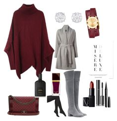 """autumn with wine"" by shayna-fosso ❤ liked on Polyvore featuring Gianvito Rossi, Via Spiga, Lanvin, Chanel, Movado, NARS Cosmetics, Marc Jacobs and Tom Ford"