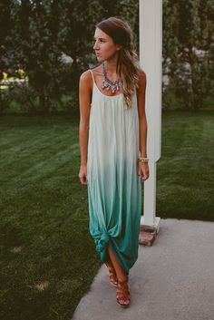 tie up your maxi for a cool effect