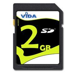 VIDA IT 2GB SD Memory Card Secure Digital Read Speed 14MB/s For Ricoh R10 Camera