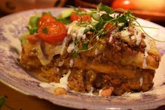 Smaskelismaskens: Varm smörgåstårta med köttfärs, bacon och vitlöksost Bacon, Beef, Ethnic Recipes, Food Ideas, Meat, Pork Belly, Steak